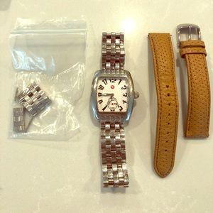 Michele Mini Urban watch with links & extra strap
